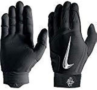 2bf15865a6cb5 Nike Mens Hurrache Elite BG Batting Glove Black-Chrome 2X