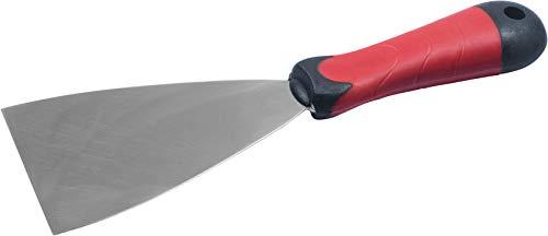 Connex Malerspachtel 80 mm - Ergonomischer 2K-Griff & Klinge aus rostfreiem Stahl - Zum Verspachteln & Abkratzen von Farbe oder Tapete / Universalspachtel / Griffspachtel / COX880280