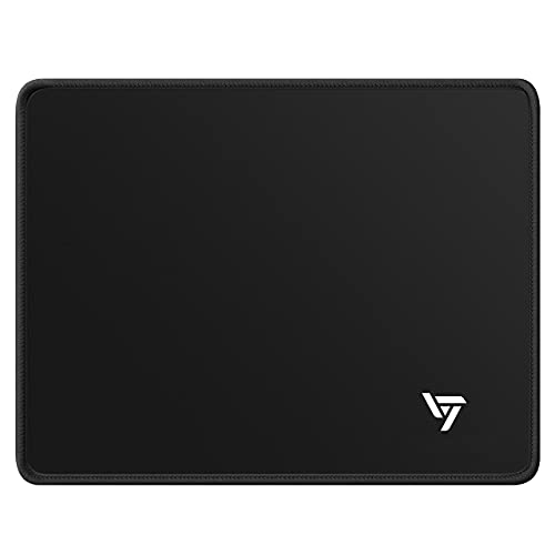 """Computer Mouse Pad, TGSHOCK Premium-Textured Gaming Mouse Pad, Non-Slip Rubber Base Mouse Mat with Stitched Edges for Laptop, Computer & PC, 10.2""""x 8.3""""x 0.8"""", Black"""