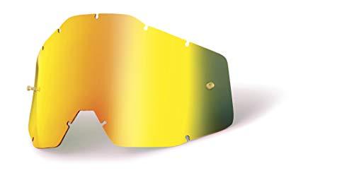 100% ACCURI/STRATA Jugend- Ersatzlinse W/Posts - Spiegel / Smoke Anti-Nebel, Gold , Größe One Size