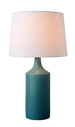 Kenroy Home Crayon Table Lamp, Matte Teal Ceramic Finish