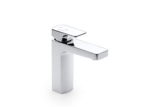 Roca Mezclador monomando L90 para lavabo con cuerpo liso y desagüe click-clack....