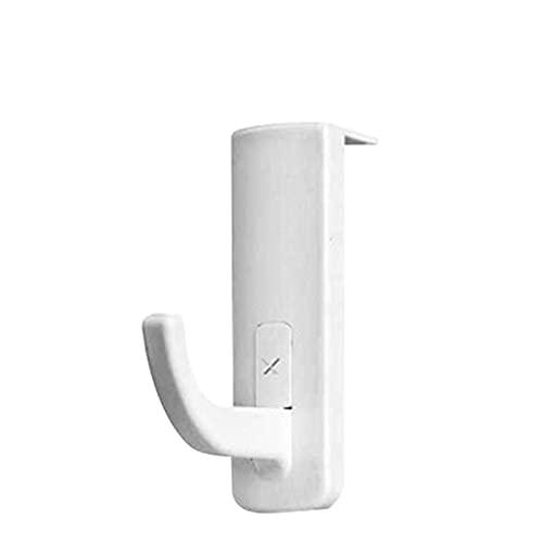 HNGM Hörlursstativ Gaming headset konsol hängare datorskärm headset hängande krokfäste tillbehör lämpliga för alla headset (Color : White)