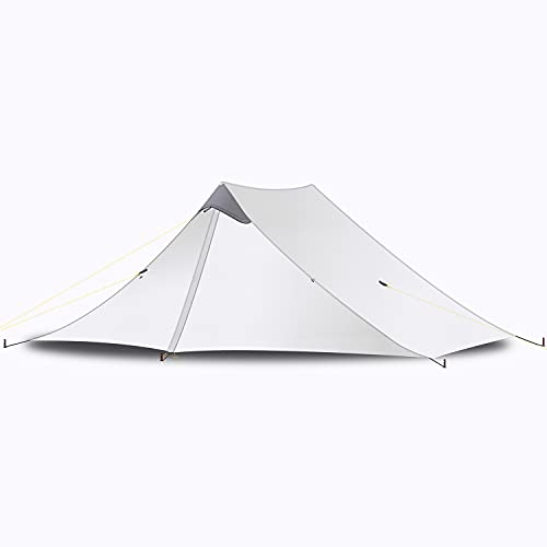 EZOLY Ultraleicht Zelt 2 Personen Trekkingzelt, 5000MM Wasserdicht, 3-Jahreszeiten-Zelt Moskitozelt Für Camping, Rucksacktourismus, Wanderungen, Bergsteigerzelt (grau, 2 Personen)