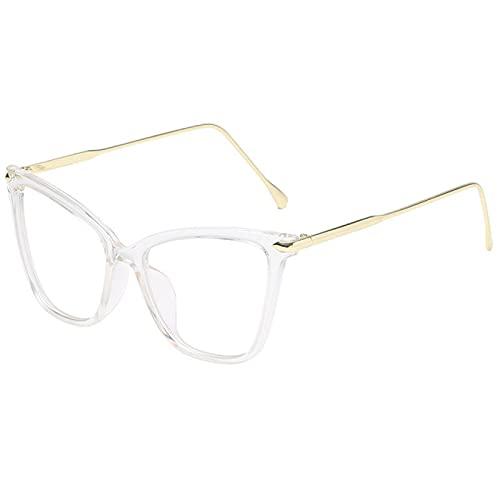 ShSnnwrl Gafas Sol De Hombre Mujer Polarizadas Sunglasses Gafas Transparentes con Montura De Gafas De Ojo De Gato para Mujeres Y Hombres,