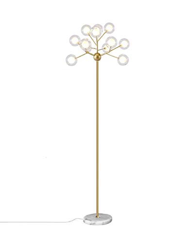 Surpars House Sputnik Kronleuchter Stehlampe mit Glaskugelschirm Ein Aus-Schalter in Linie G4 Glühbirnen enthalten