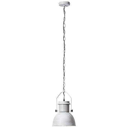 SALFORD Lustre - suspension style industriel Salford diametre 23 cm E27 60 W gris ciment