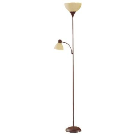 """Brown Floor Lamp with Reading Light - 72"""""""