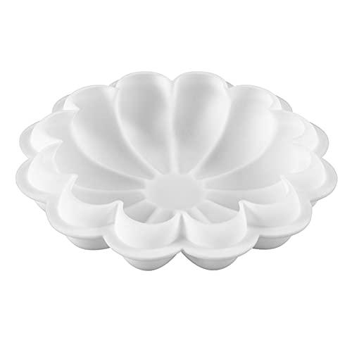 Facynde Molde de Silicona para Paste l de Flores, moldes con Motivos de Flores Redondas, moldes para Hornear de giraso l DIY, Herramienta para Hornear Antiadherente