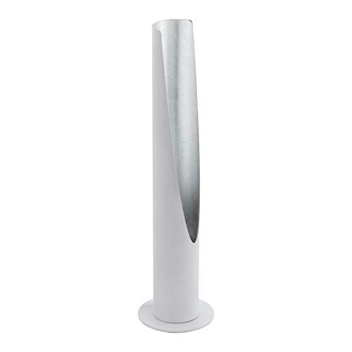 Preisvergleich Produktbild EGLO Barbotto Tischlampe,  1 flammige Tischleuchte,  Stablampe aus Stahl,  weiß,  silber,  Fassung: GU10,  inkl. Schalter