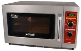 Gastronomía Microondas de acero inoxidable, 34litros de capacidad, 1800W
