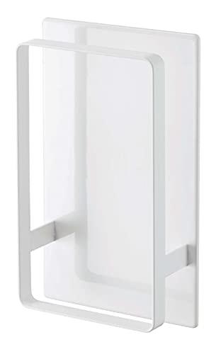 山崎実業(Yamazaki) マグネット ツーウェイ バスルーム 風呂椅子 ホルダー ホワイト 約W12XD5XH20cm タワー 通気性よく乾きやすい 5395