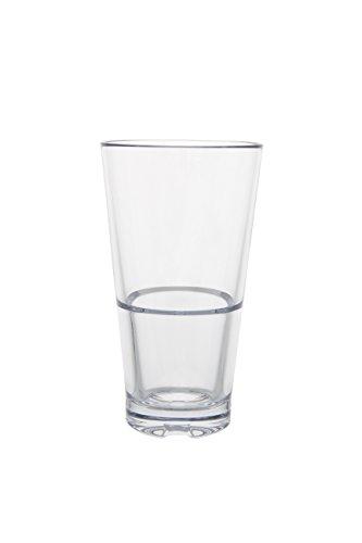 Click Clack Design Strahl 7201212oz Capella Stack–Vaso de tubo de cristal, transparente