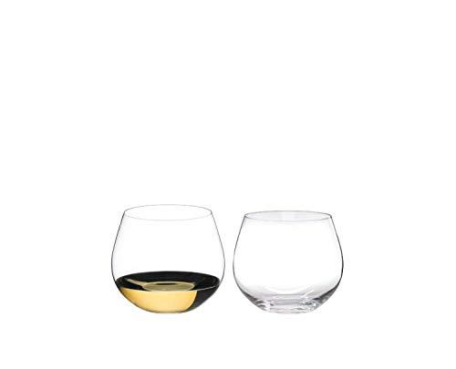 RIEDEL 0414/97 O Wine Tumbler Oaked Chardonnay, 2-teiliges Weißweinglas Set, Kristallglas