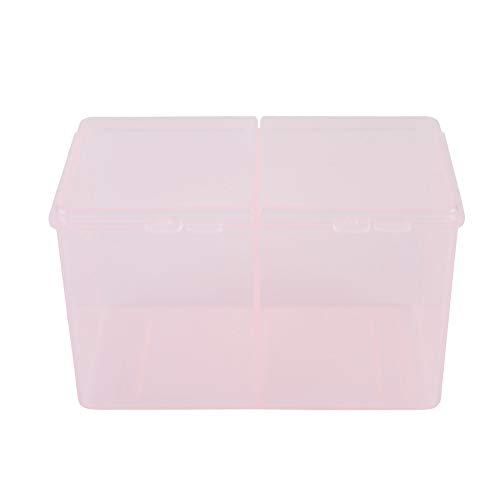 2 grilles tampons de coton, boule, récipient de protection beauté et maquillage vernis à ongles paillettes organisateur boîte de rangement outil de manucure