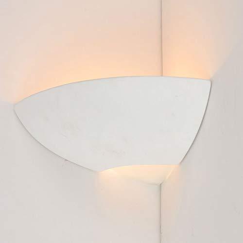 ZOE-Applique d'angle Céramique H10cm Blanc Sampa Helios