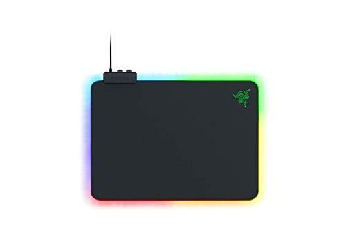 Razer Firefly V2 - Gaming-Mauspad mit mikrotexturierter Oberfläche und Chroma RGB-Beleuchtung (Kabelhalter, umlaufende Kantenbeleuchtung, rutschfest) Schwarz