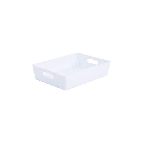 Wham Bam 5.01 Aufbewahrungskörbe, Kunststoff, für Büro, Zuhause und Küche, 35 x 26 x 8,5 cm, Weiß