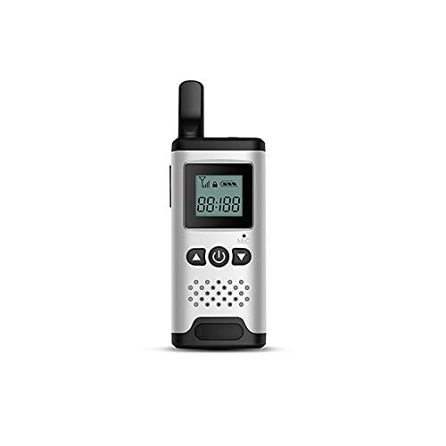 WJYZYHM Walkies talkies Profesional Recargable de 2 vías Radio Larga Distancia portátil walkie Talkie Adulto con DIRIGIÓ Soportes de luz Vox Función (Color : White)