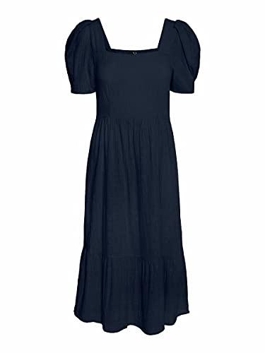 Vero Moda Vmidiris 2/4 Calf Dress Wvn Dr Ga Vestido, Azul Marino, L para Mujer
