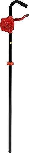 Vorel Hand Ölfaßpumpe mit Kurbel, 20 Liter/min, stabile Ausführung aus Gusseisen, Diesel Fasspumpe Öl Kurbelpumpe