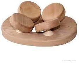 SudoreWell® Sauna Appui-tête 4 Points du Bois de Cedar - Accessoire pour Sauna