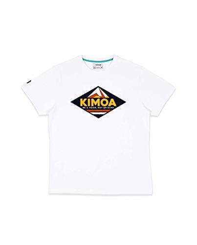KIMOA Camiseta Fissile Peak Blanco, Unisex Adulto, M