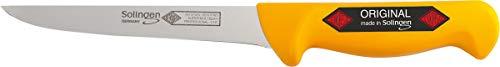 SOLINGEN EIKASO® Ausbeinmesser Filetiermesser Fleischmesser Profi Kochmesser sehr beständig scharfe Klinge semi-Flex Küchenmesser Metzgermesser gerade (13cm)