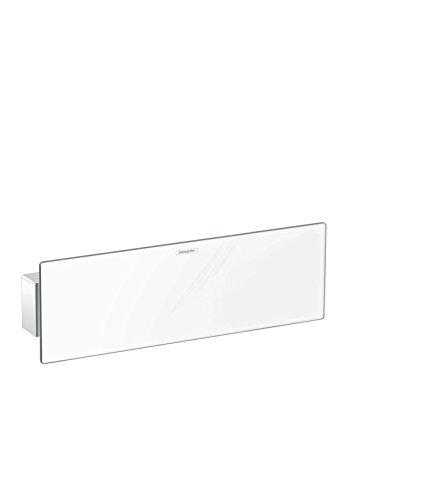 hansgrohe FixFit Schlauchanschluss, 300 mm, mit Duschkopfhalterung und Duschablage, Weiß/Chrom