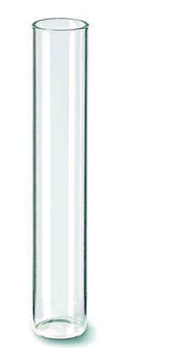 Reagenzglas mit Flachboden Glasklar 20mm x 110mm 10er Set, für Blumen, Flüssigkeiten, Süßigkeiten