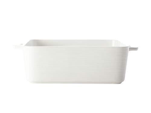 Casa Domani P470023 Plat à four carré en porcelaine Blanc