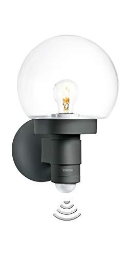 Steinel Sensor-Außenwandleuchte L 115 S Anthrazit, 240° Bewegungsmelder, 12 m Reichweite, Grundlicht, Dauerlicht, Softlicht [Energieklasse A++]