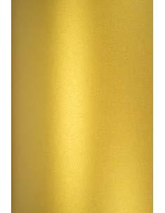 20x Perlmutt-Gold 120g Papier DIN A4 210x297 mm Aster Metallic Cherish doppelseitig schimmernd Perlglanz Metallic-Effekt Pearlpapier Glanzpapier Perlmuttglanz-Papier für Inkjet und Laser Drucker