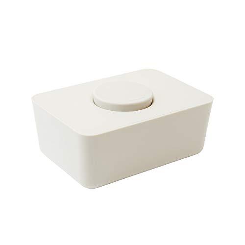 b2c ウエットティッシュホルダー シリコン蓋(ホワイト)|ウェットティッシュ ケース ふた おしりふき おしゃれ ウェットティッシュケース ウェットティッシュ入れ お尻ふき