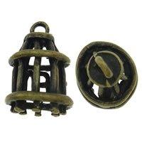 Just Say Beads 5 X Bronze antique '3d Cage à oiseaux' Charms Anneaux Ouverts avec pièces jointes inclus. Utilisation universelle pour bijoux, carterie et scrapbooking. (Ref : 1e52)