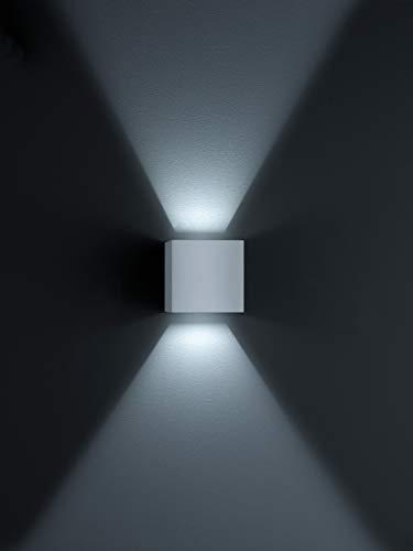 HELESTRA LED Wand- und Deckenleuchte, IP54, 10 x 10 x 10 cm, silbergrau A28242.46