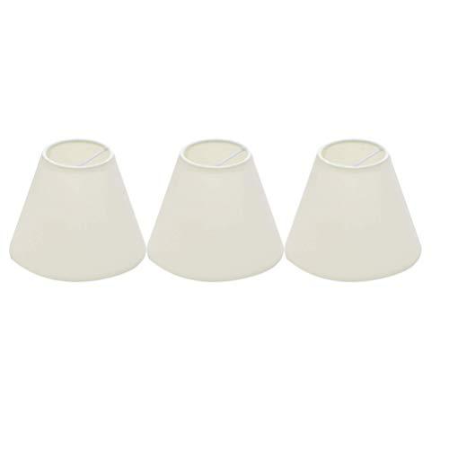 FRCOLOR Kronleuchter Lampenschirme 3Er-Set Retro-Lampenschirm Stoffblasen-Lampenschirm für Tischlampe Und Stehlicht Restaurant Hotel (Weiß)