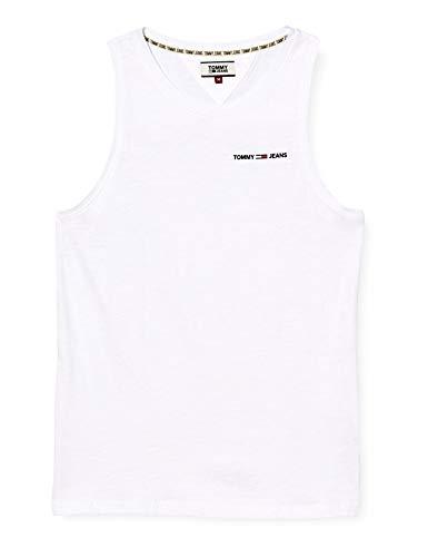 Tommy Jeans Herren TJM Tank Top T-Shirt, Weiß (White Ybr), Medium