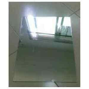 1 PIECE of Alloy 430 Mirrored Stainless Steel Sheet w/PVC 1 Side - 20g x 12' x 12'
