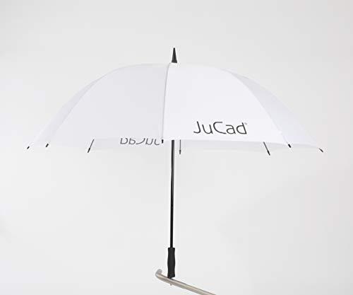 JuCad Golfschirm mit Stift Caddys weiß