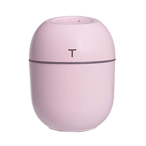 Difusor De Aceite Esencial De 220 Ml, Difusor Aroma Silencioso Humidificador Coche USB con Apagado Automático para El SPA Casa Habitación Bebé, 80 * 103 Mm,Rosado