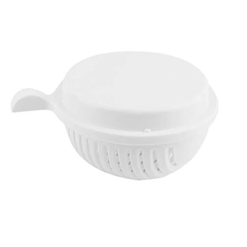 Tamaño portátil de plástico 60 Segundos Tazón de Fuente de la Ensalada Tazón de Fuente de Cocina casera de Fruta Cortador de Verduras Quick Make Salad White