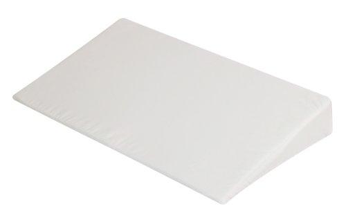 Julius Zöllner 4364100000 Stützkissen in Keilform mit Baumwollbezug, Grösse 59 x 35 x 9 cm, weiß