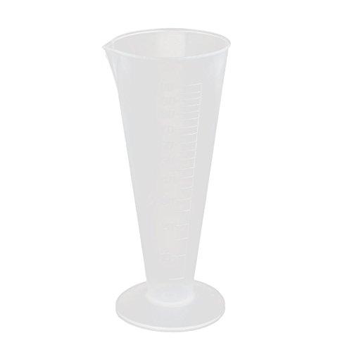 sourcingmap 100mL Socle rond plastque mesure claire cylindre gradué cuisine