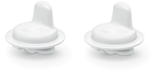 NUK 10255311 First Choice Active Harte Trinktülle für Kiddy Cup, weiß, 2er Pack (2 Stück)