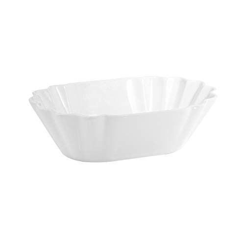 BUTLERS Puro Schale in Pappoptik 23,4x16,2x7 aus Qualitätsporzellan - Weiße Porzellanschale - originelle Pommesschale