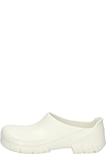 BIRKENSTOCK Alpro Safety in White, der PU Clog mit Stahlkappe, 40
