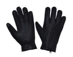 Unik International Men's Full Finger Deerskin Gloves BLK,5XL