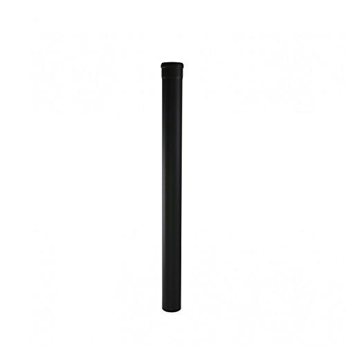 Ofenrohr Rosette Bogen Rohrhalter Kaminzubehör schwarz & grau versch. Größen, Farbe:schwarz, Bauteil:Ø 80 mm. Länge 750 mm