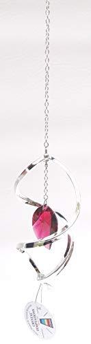 Crystal Temptations P2-880640-SR Ornament hängend mit rotem Stein 110 x 75 mm Hanging Ornament Swarovski Components Strass Bleikristall versilbert …